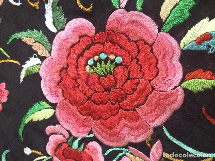 Antigüedades: Antiguo mantón de manila isabelino - Foto 9 - 126976987