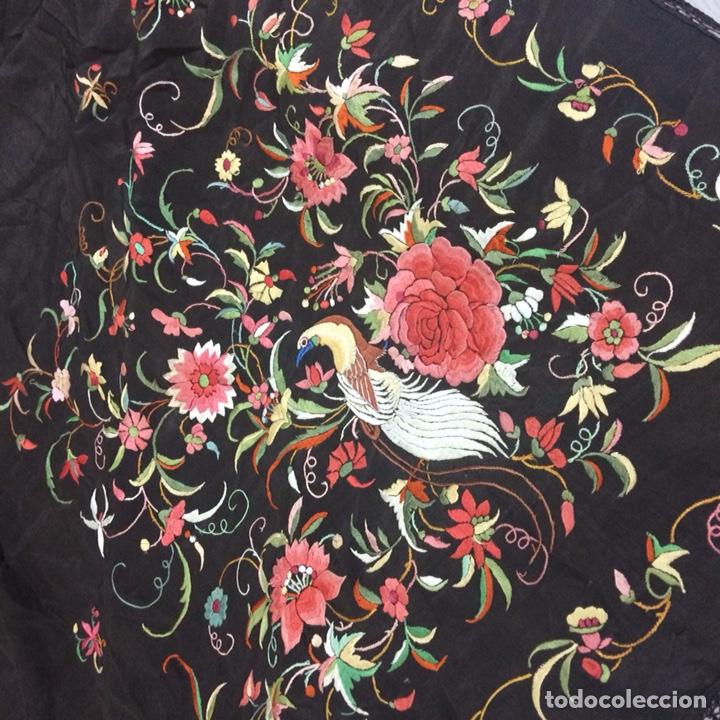 Antigüedades: Antiguo mantón de manila isabelino - Foto 10 - 126976987