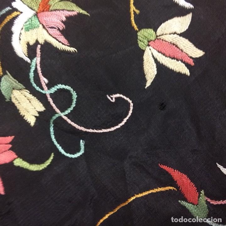 Antigüedades: Antiguo mantón de manila isabelino - Foto 12 - 126976987