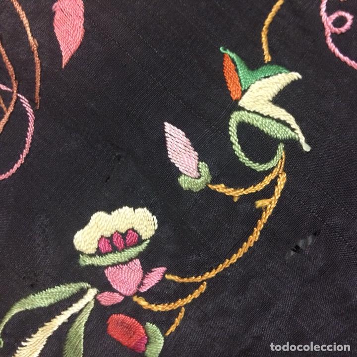 Antigüedades: Antiguo mantón de manila isabelino - Foto 13 - 126976987