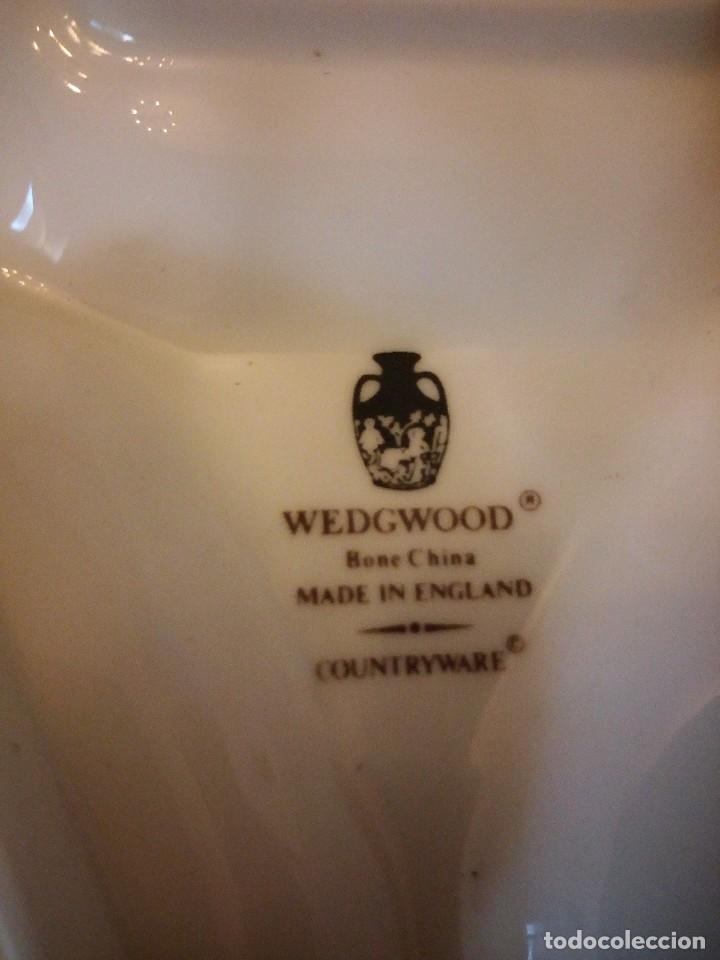 Antigüedades: Precioso especiero con mostardera y bandeja 3 piezas porcelana wedgwood countryware,bone china - Foto 6 - 125432143