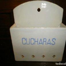 Antigüedades: ANTIGUO CUCHARERO DE LOZA.. Lote 125434979