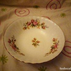 Antigüedades: PRECIOSO BOL DE PORCELANA ROYAL ALBERT BONE CHINA, MOSS ROSE ENGLAND. Lote 125441623