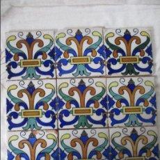Antigüedades: AZULEJOS SIGLO XIX. Lote 125482955