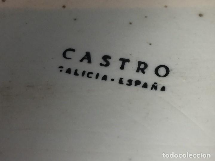 Antigüedades: pequeña bandeja cerámica castro galicia gallega pintada a mano s xx - Foto 2 - 125651023
