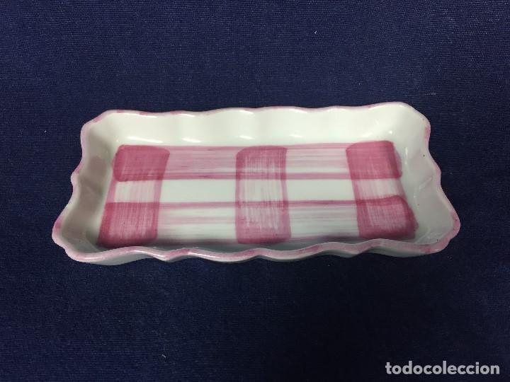 Antigüedades: pequeña bandeja cerámica castro galicia gallega pintada a mano s xx - Foto 5 - 125651023