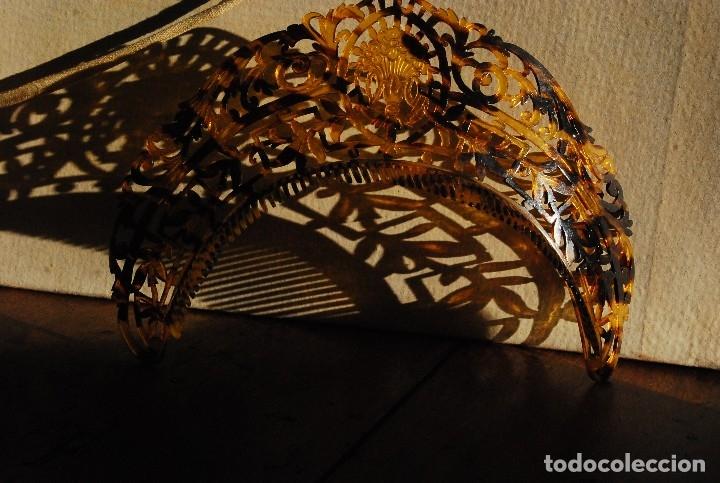 Antigüedades: PRECIOSA PEINETA ANTIGUA DE CAREY TIPO DIADEMA - Foto 5 - 164605204