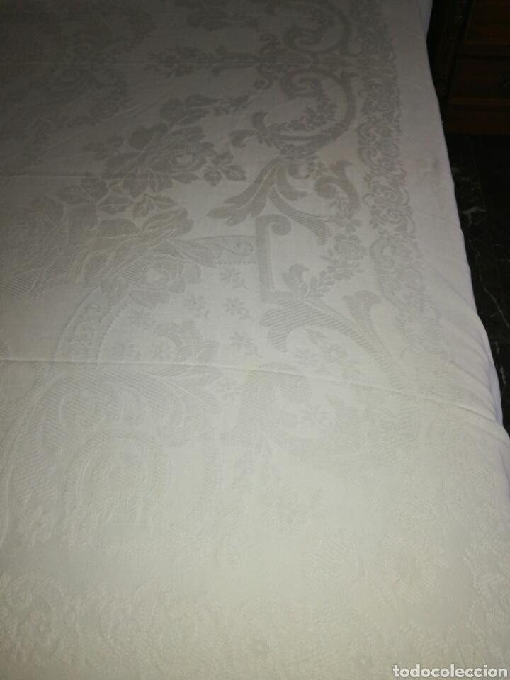 Antigüedades: Antigua colcha de algodón Adamascado - Foto 2 - 125741859