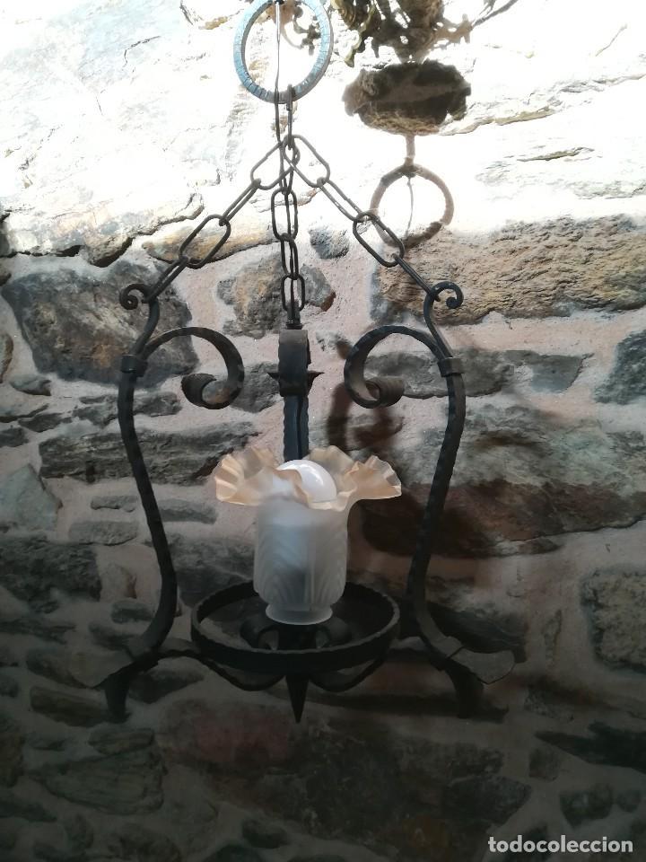 Antigüedades: Lámpara de forja - Foto 2 - 125822011