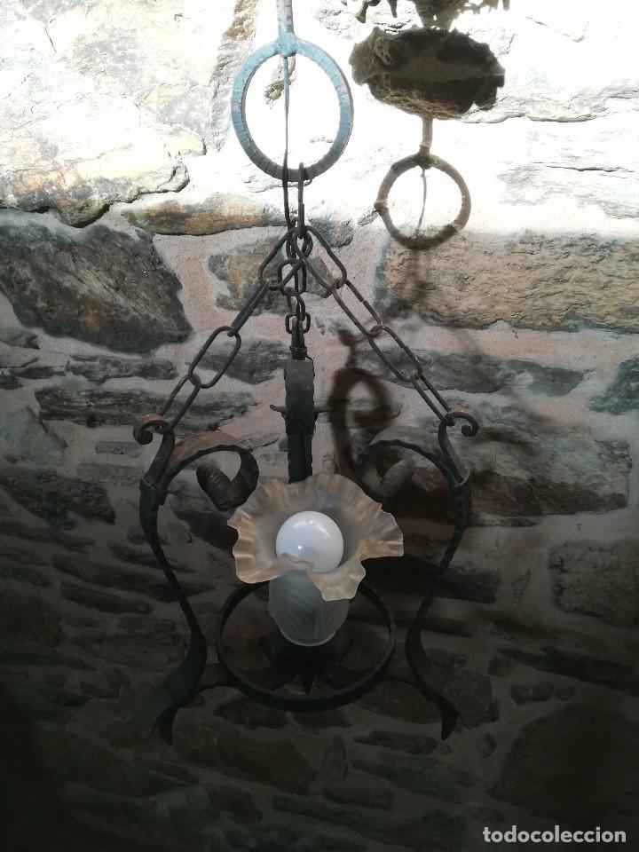 Antigüedades: Lámpara de forja - Foto 3 - 125822011