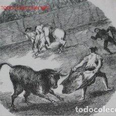Antigüedades: PLATO VIEJO GRANDE CON ESCENA DE TOREO. Lote 125826995