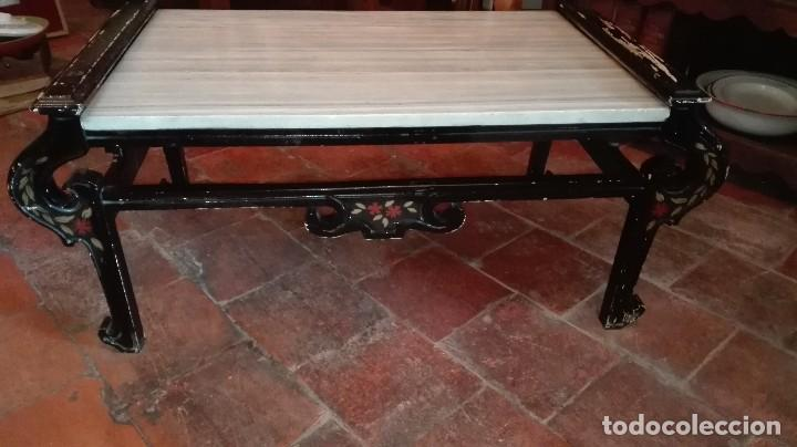estilo marroqu/í 53 x 45 cm de di/ámetro para tu sal/ón pintada a mano Mesa auxiliar oriental BAB de Lorient estilo antiguo 100/% artesanal de madera