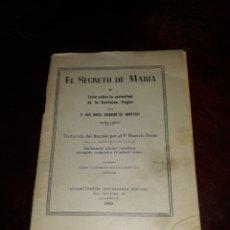 Antigüedades: EL SECRETO DE MARÍA. Lote 125838284