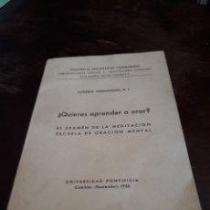Antigüedades: ¿QUIERES APRENDER A ORAR?. Lote 125839967