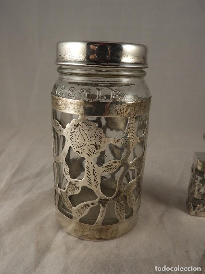 Antigüedades: BOTE, SALEROS, ESENCIEROS, ESPECIEROS DE PLATA MEXICANA - Foto 2 - 125873963