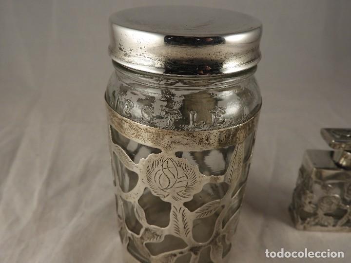 Antigüedades: BOTE, SALEROS, ESENCIEROS, ESPECIEROS DE PLATA MEXICANA - Foto 3 - 125873963