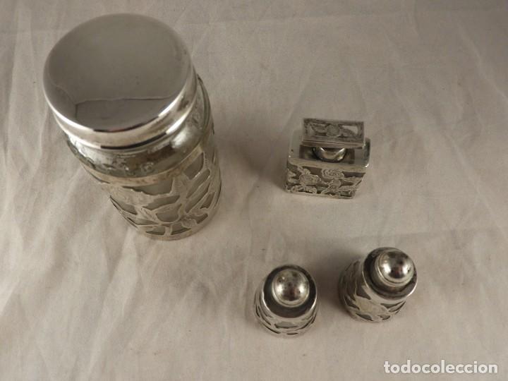 Antigüedades: BOTE, SALEROS, ESENCIEROS, ESPECIEROS DE PLATA MEXICANA - Foto 4 - 125873963