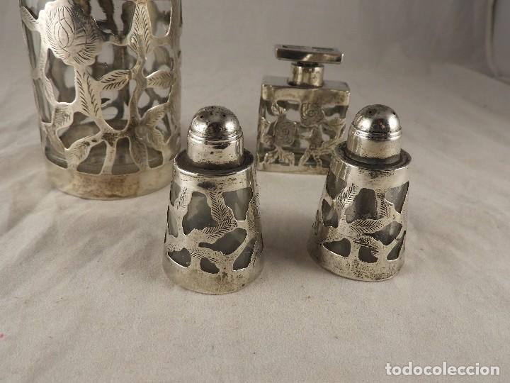 Antigüedades: BOTE, SALEROS, ESENCIEROS, ESPECIEROS DE PLATA MEXICANA - Foto 6 - 125873963