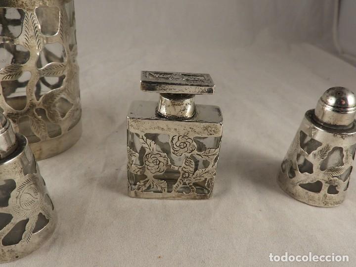 Antigüedades: BOTE, SALEROS, ESENCIEROS, ESPECIEROS DE PLATA MEXICANA - Foto 7 - 125873963