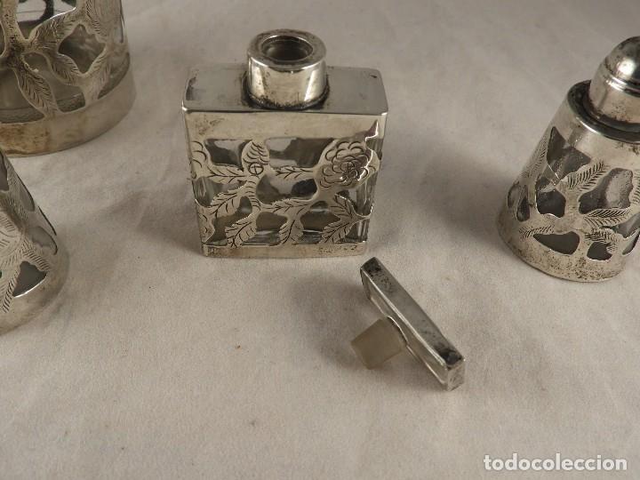 Antigüedades: BOTE, SALEROS, ESENCIEROS, ESPECIEROS DE PLATA MEXICANA - Foto 9 - 125873963
