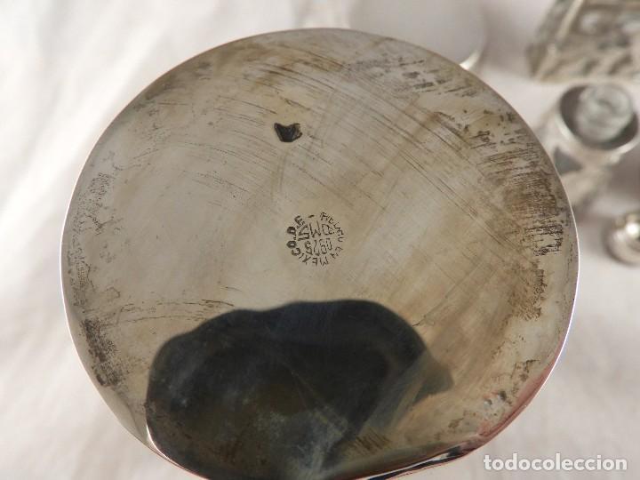 Antigüedades: BOTE, SALEROS, ESENCIEROS, ESPECIEROS DE PLATA MEXICANA - Foto 12 - 125873963