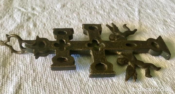 Antigüedades: CRUZ DE CARAVACA - BRONCE - SIGLO XVIII - Foto 3 - 125968811