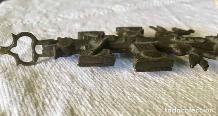 Antigüedades: CRUZ DE CARAVACA - BRONCE - SIGLO XVIII - Foto 4 - 125968811
