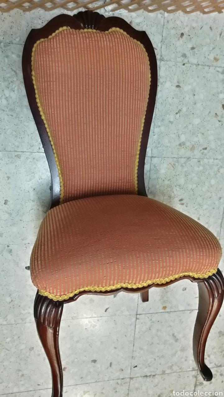 Antigüedades: Antigua silla isabelina caoba muy buen estado - Foto 5 - 125974106