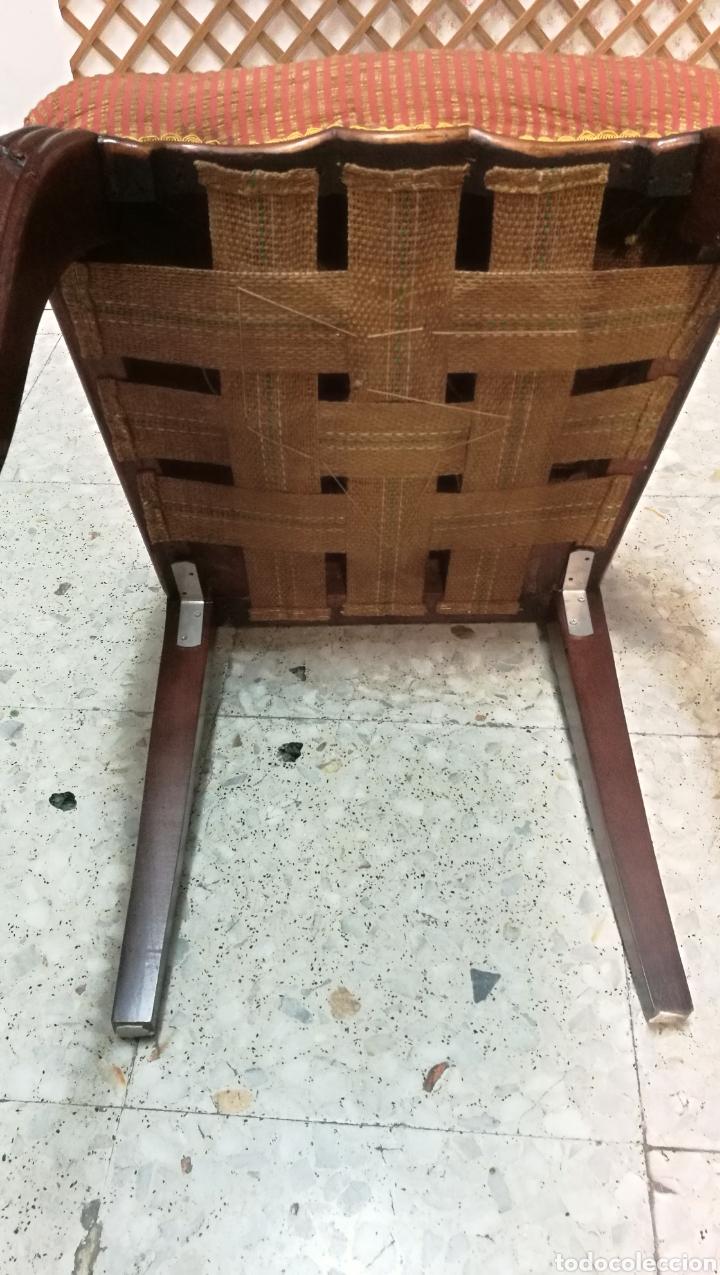 Antigüedades: Antigua silla isabelina caoba muy buen estado - Foto 6 - 125974106