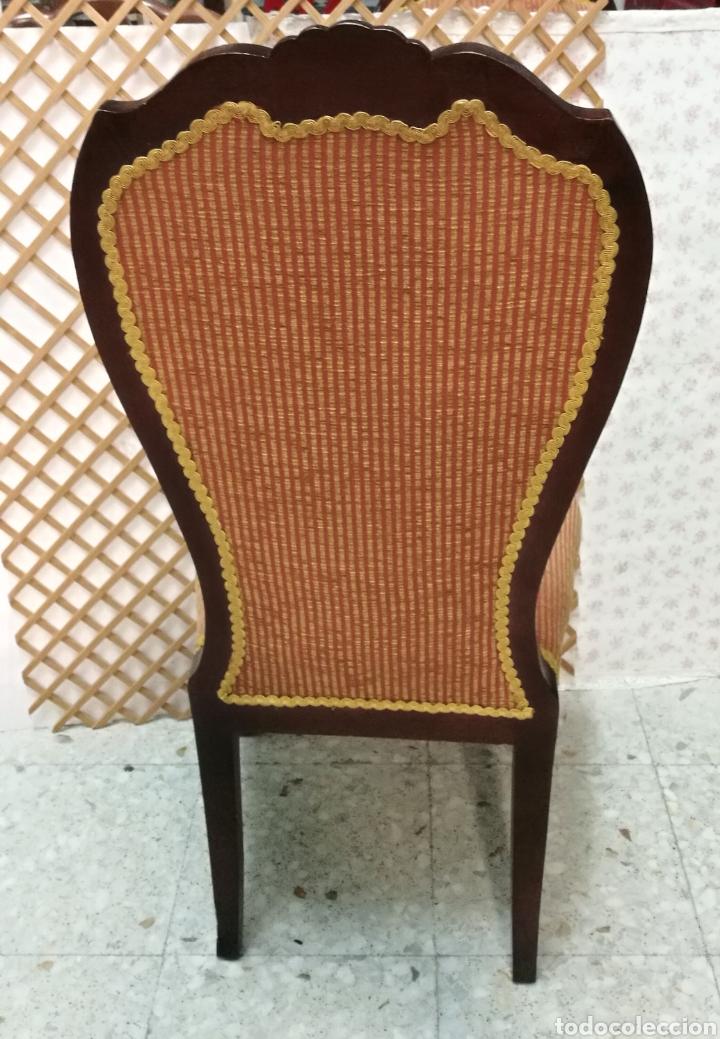 Antigüedades: Antigua silla isabelina caoba muy buen estado - Foto 8 - 125974106
