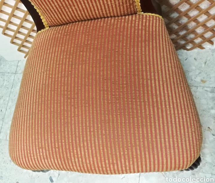 Antigüedades: Antigua silla isabelina caoba muy buen estado - Foto 9 - 125974106