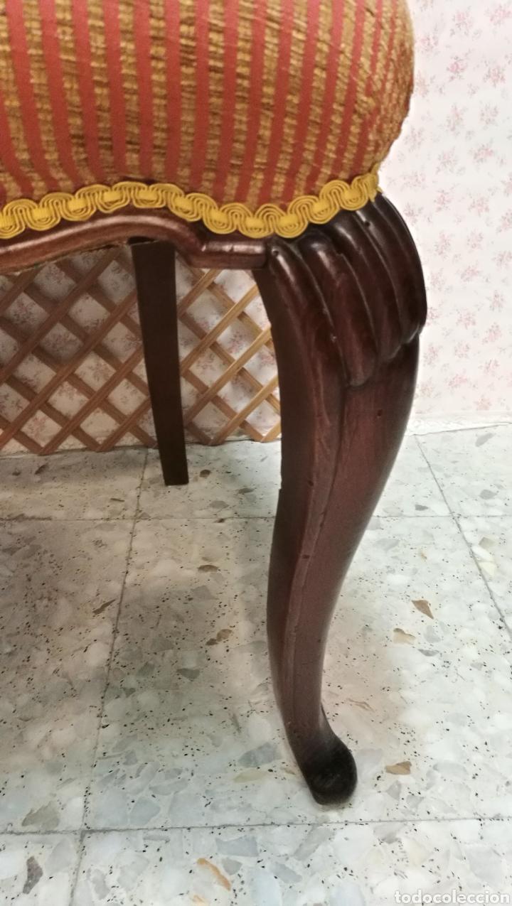 Antigüedades: Antigua silla isabelina caoba muy buen estado - Foto 12 - 125974106