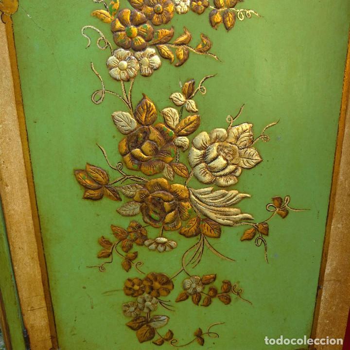 Antigüedades: Armario libreria oriental policromada en relieve - Foto 12 - 126007743