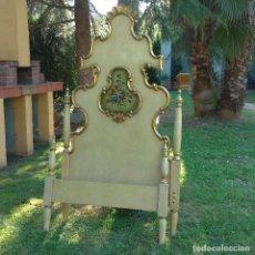 Antigüedades: CABECERO POLICROMADO ESTILO OLOTINO. Lote 126008695