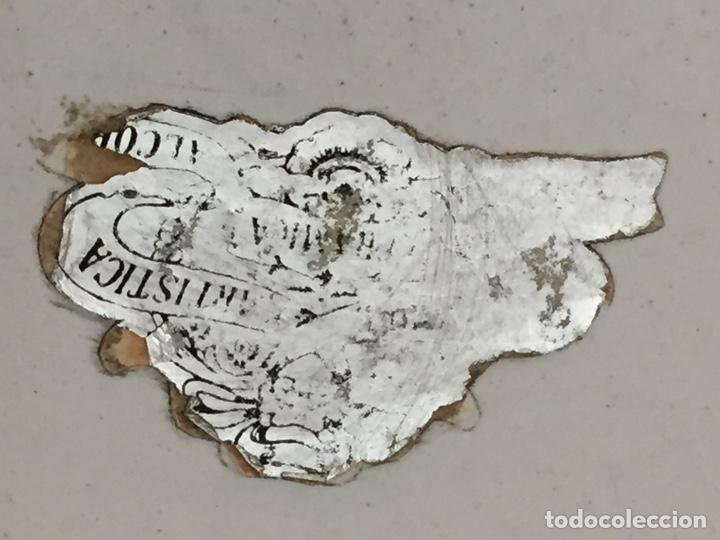 Antigüedades: Plato decorativo Cerámica Alcora - Foto 8 - 126010631