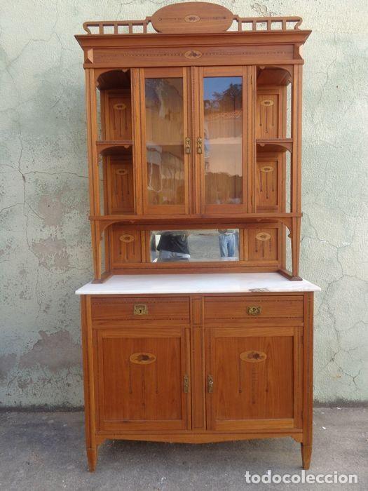mueble de salón-comedor de piño antiguo (pinus - Kaufen Antike ...