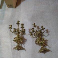 Antigüedades: CANDELABROS Y RELOJ. Lote 126013767