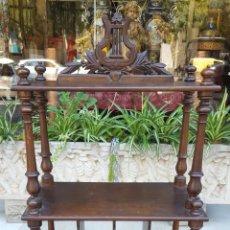 Antigüedades: MUEBLE MUSIQUERO. MADERA DE NOGAL. ESTILO ALFONSINO. ESPAÑA. SIGLO XIX.. Lote 126032275