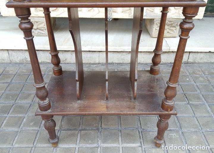Antigüedades: MUEBLE MUSIQUERO. MADERA DE NOGAL. ESTILO ALFONSINO. ESPAÑA. SIGLO XIX. - Foto 4 - 126032275