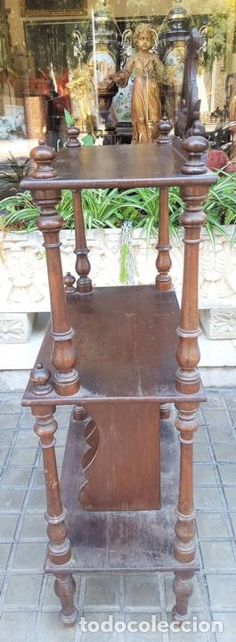 Antigüedades: MUEBLE MUSIQUERO. MADERA DE NOGAL. ESTILO ALFONSINO. ESPAÑA. SIGLO XIX. - Foto 7 - 126032275