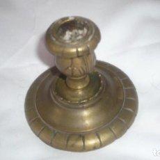 Antigüedades: PORTAVELAS DE BRONCE. Lote 126054675