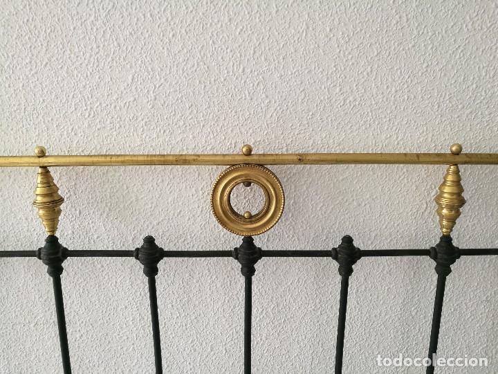 Antigüedades: Cabecero antiguo de forja - Foto 4 - 127249710
