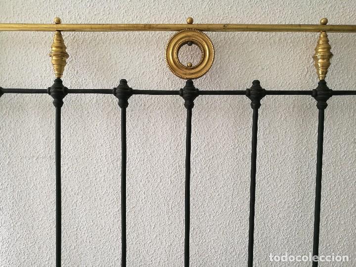 Antigüedades: Cabecero antiguo de forja - Foto 8 - 127249710
