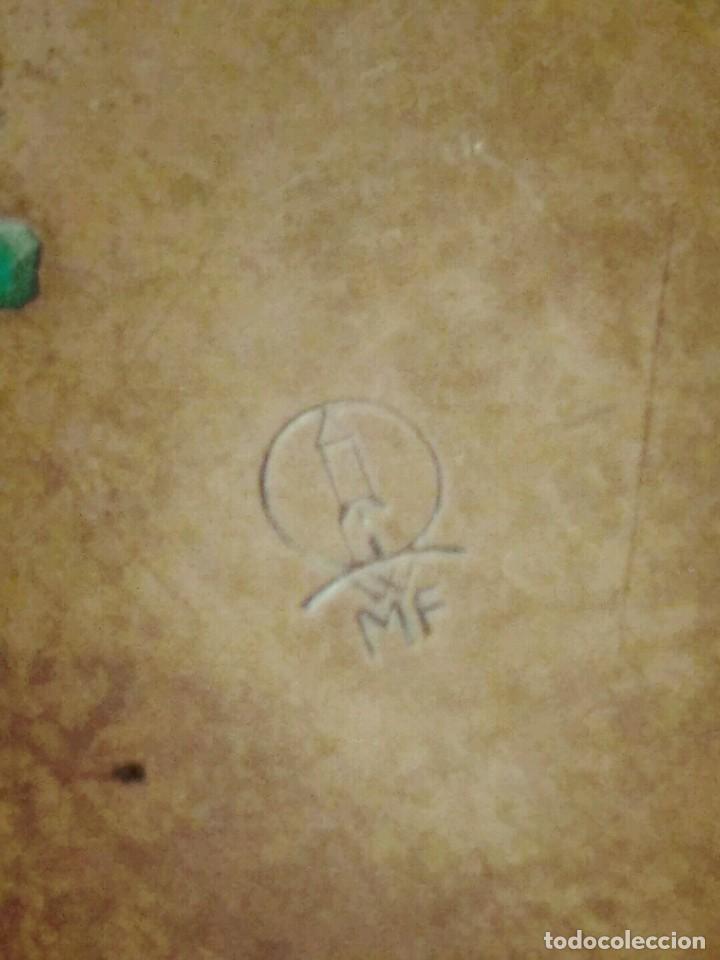 Antigüedades: WFM - LOTE 2 JARRONES O FLOREROS DE METAL LATÓN O COBRE ?? - ALEMANIA AÑOS 30. - Foto 13 - 126068699
