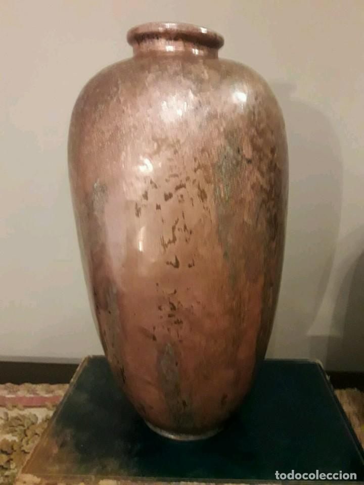 Antigüedades: WFM - LOTE 2 JARRONES O FLOREROS DE METAL LATÓN O COBRE ?? - ALEMANIA AÑOS 30. - Foto 24 - 126068699