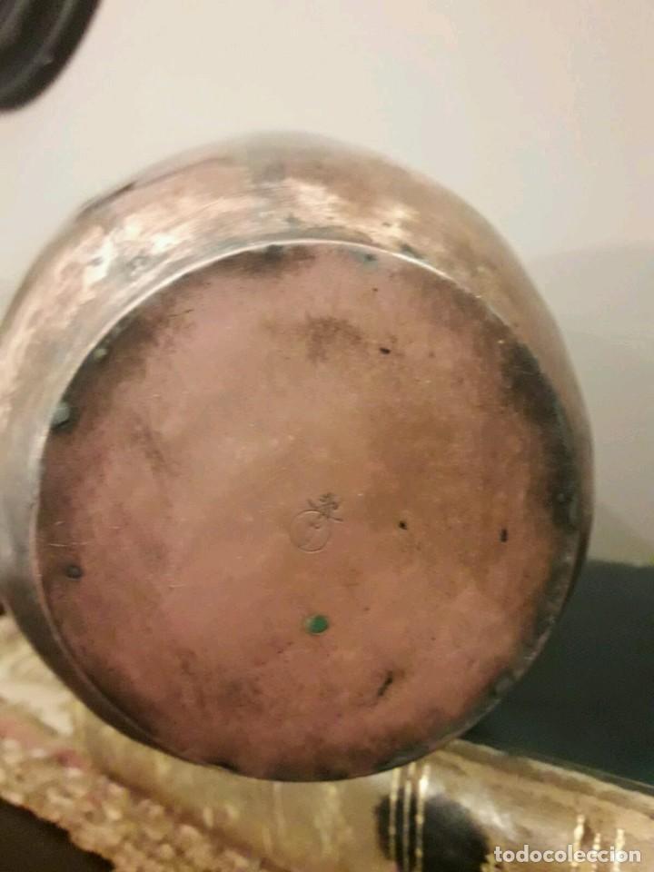 Antigüedades: WFM - LOTE 2 JARRONES O FLOREROS DE METAL LATÓN O COBRE ?? - ALEMANIA AÑOS 30. - Foto 34 - 126068699