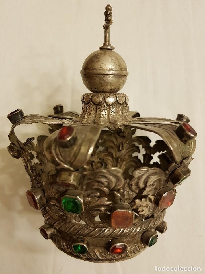 Antigüedades: Coronas para Virgen y Niño. Plata. Finales siglo XVIII. Punzones Quintana y Haro (La Rioja) - Foto 29 - 111544335