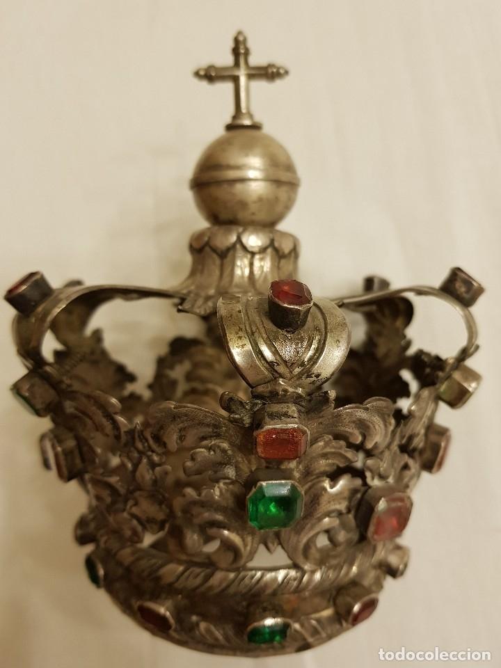 Antigüedades: Coronas para Virgen y Niño. Plata. Finales siglo XVIII. Punzones Quintana y Haro (La Rioja) - Foto 30 - 111544335