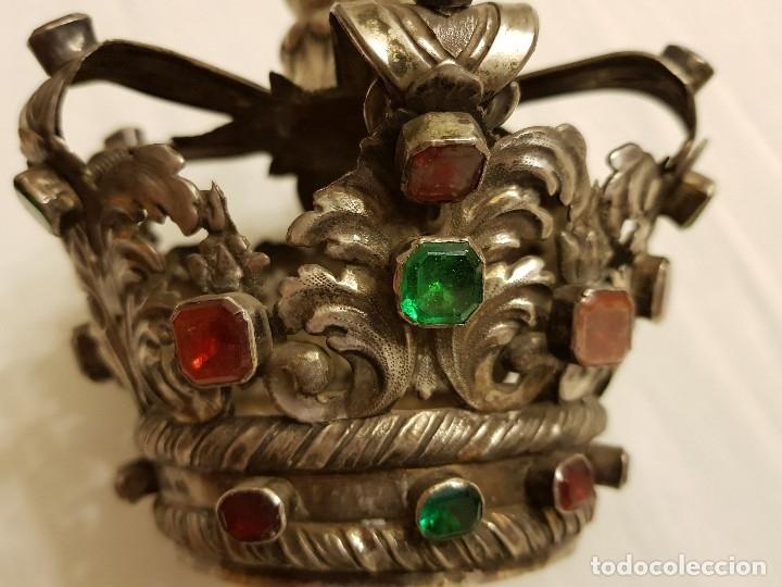 Antigüedades: Coronas para Virgen y Niño. Plata. Finales siglo XVIII. Punzones Quintana y Haro (La Rioja) - Foto 35 - 111544335