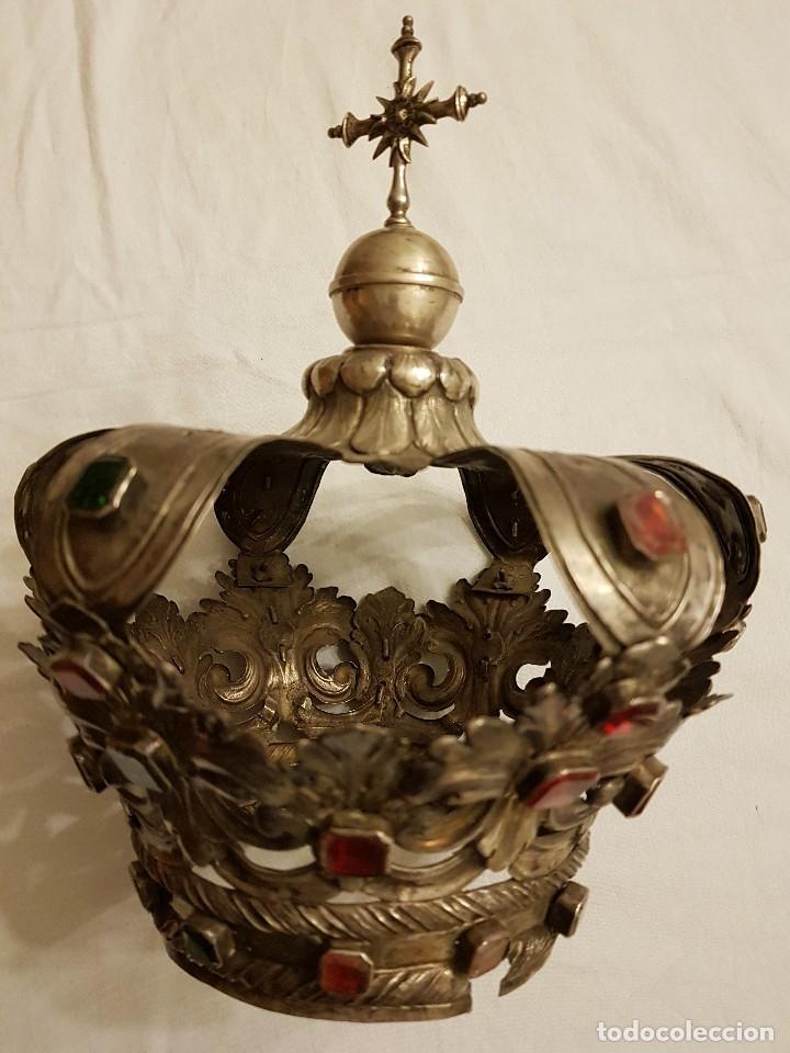 Antigüedades: Coronas para Virgen y Niño. Plata. Finales siglo XVIII. Punzones Quintana y Haro (La Rioja) - Foto 2 - 111544335